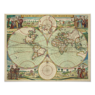 A new mapp of the world - Atlas Poster