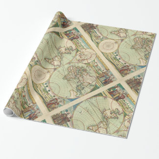 A new mapp of the world - Atlas Wrapping Paper