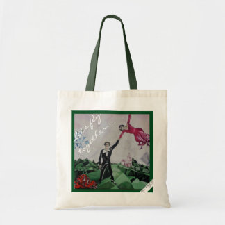 A nice touching Let's Fly together tote bag.