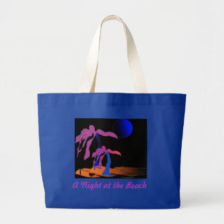 A Night at the Beach Large Tote Bag