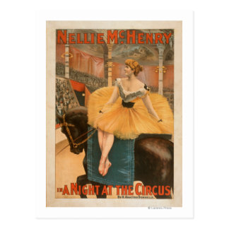 A Night at the Circus Theatrical Play Poster Postcard