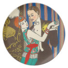 A Night in Decadent Paris Art Deco Plate
