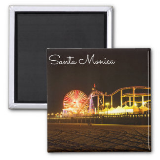 A Night In Santa Monica California Magnet