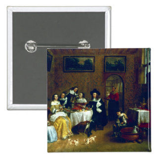 A Noble Family Dining 2 Inch Square Button