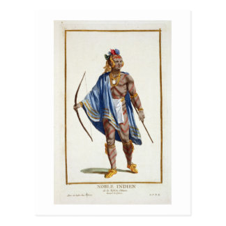 A Noble Indian from the Ottawa Nation, 1780 (colou Postcard