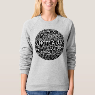A Note A Day Collage Sweatshirt