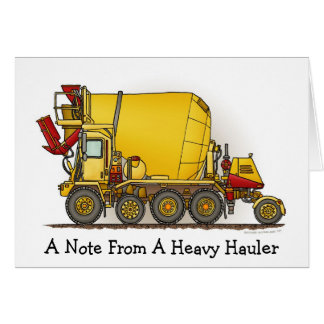 A Note From... Cement Mixer Truck Note Card