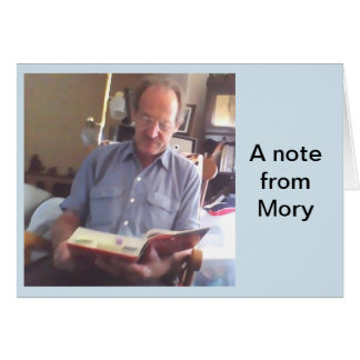 A note from Mory. Card