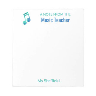 A Note From The Music Teacher Personalized Musical