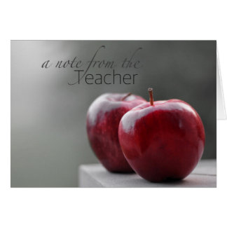 A Note From the Teacher Note Cards