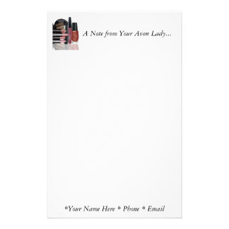 A Note from Your Avon Lady Stationary Stationery