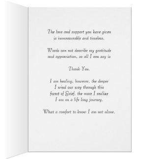 A note of Appreciation and Gratitude Card