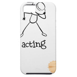 A notebook with a sketch of a person acting at the iPhone 5 cover