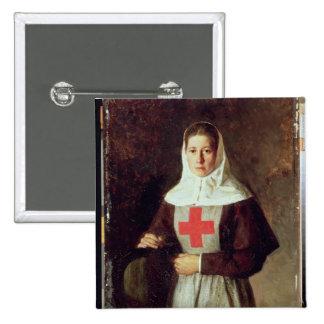 A Nurse, 1886 2 Inch Square Button