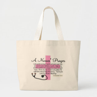 A Nurses PRAYER Large Tote Bag