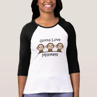 A obtenu d'aimer des singes t-shirt