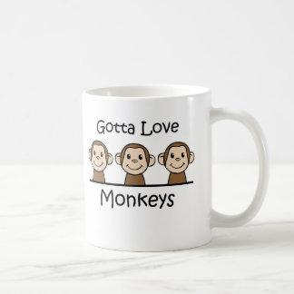 A obtenu d'aimer des singes tasse à café