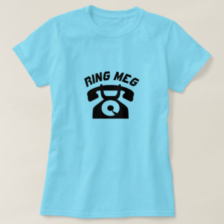 A old phone with text Ring meg T-Shirt