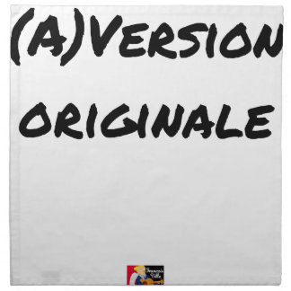 (A) Original version - Word games Napkin