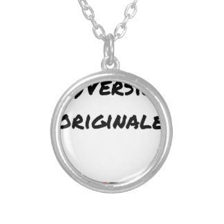 (A) Original version - Word games Silver Plated Necklace