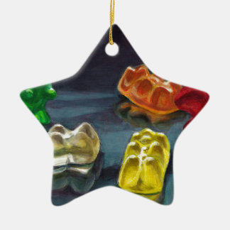 A Pack of Candy Ceramic Ornament