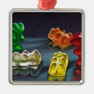 A Pack of Candy Metal Ornament
