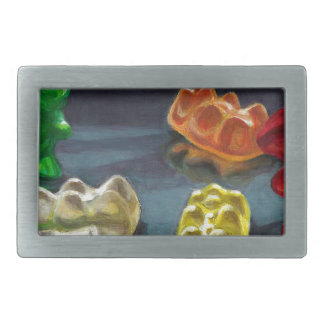 A Pack of Candy Rectangular Belt Buckle