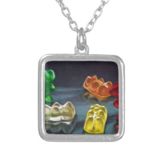 A Pack of Candy Silver Plated Necklace