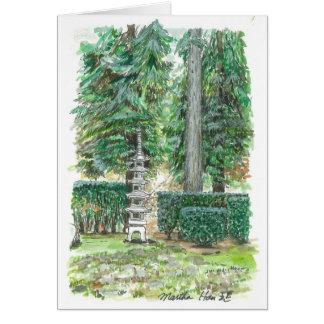A Pagoda in Japanese Garden Card