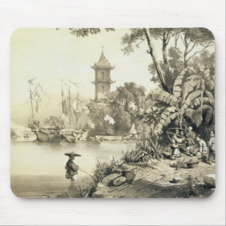 A Pagoda on the Macao-Canton Canal, plate 21 from Mouse Pad
