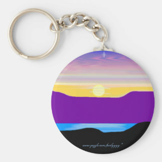 A Painted Sunset #2 Keychain