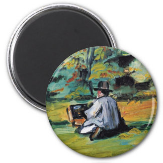 A Painter At Work By Paul Cézanne (Best Quality) Magnet