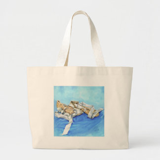 A Pair of Ballet Shoes Large Tote Bag