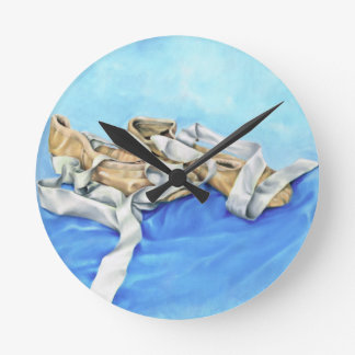 A Pair of Ballet Shoes Wall Clock