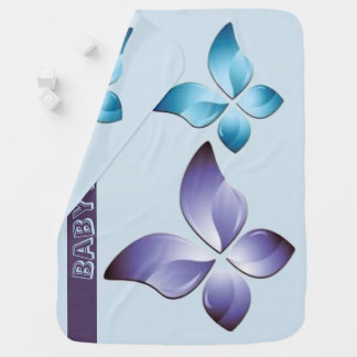 A Pair of Butterflies Baby Blanket