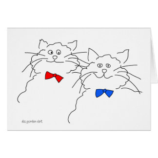 A Pair of Cats! Card