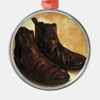 A Pair of Chelsea Boots Metal Ornament