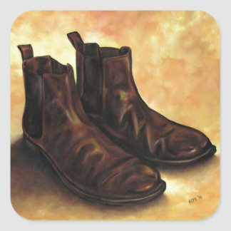 A Pair of Chelsea Boots Square Sticker