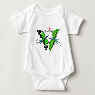 a pair of dragons baby bodysuit