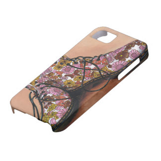 A Pair of Favourite Floral Boots Case For The iPhone 5