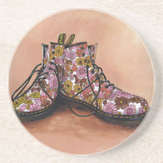 A Pair of Favourite Floral Boots Coaster