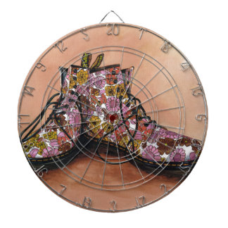 A Pair of Favourite Floral Boots Dartboard