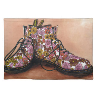 A Pair of Favourite Floral Boots Placemat