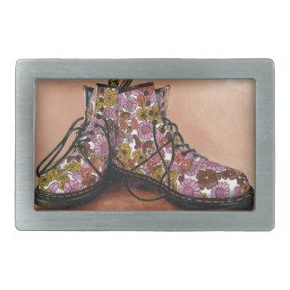 A Pair of Favourite Floral Boots Rectangular Belt Buckles