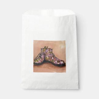 A Pair of Floral Dr Martins Boots Favour Bag