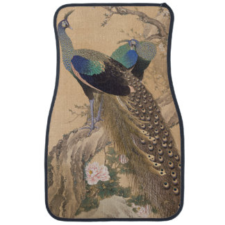 A Pair of Peacocks in Spring by Imao Keinen Auto Mat