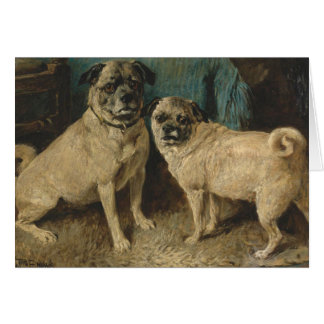 A Pair of Pugs, Card