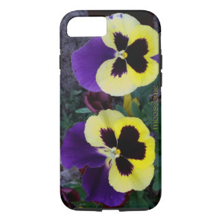 A Pair of Purple and Yellow Pansies iPhone 7 Case