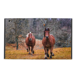 A Pair Of Running Horses iPad Folio Case