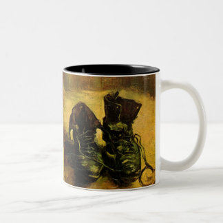 A Pair of Shoes by Vincent van Gogh, Vintage Art Two-Tone Coffee Mug